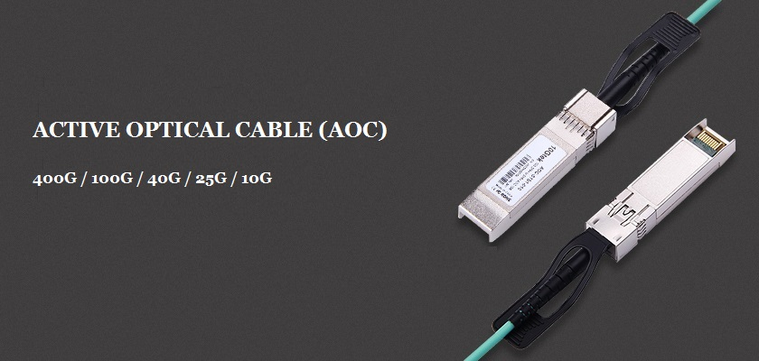 Active Optical Cables (AOC) 400G / 100G / 40G / 25G / 10G