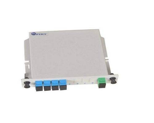 1:4 plc optical fiber splitter plc 1260nm – 1650nm lgx box type