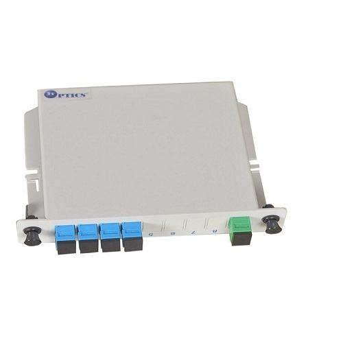 1:4 plc optical fiber plc splitter 1260nm – 1650nm lgx box type