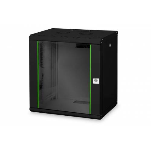 12u wall mountable cabinet with 450mm depth 19 inch with power supply and dual fan