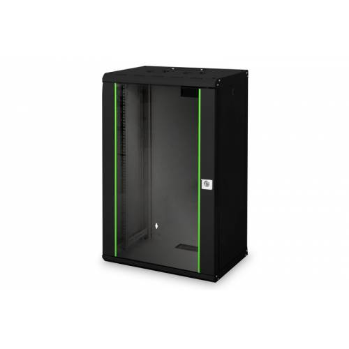 18u wall mountable cabinet with 450mm depth 19 inch with power supply and dual fan