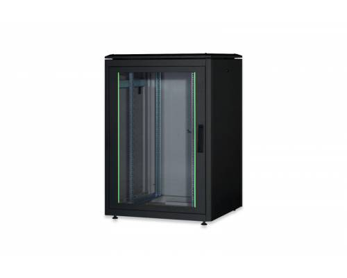 15u wall mountable cabinet with 450mm depth 19 inch with power supply and dual fan