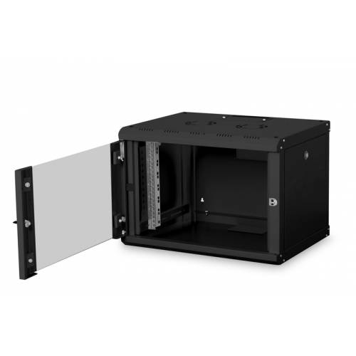 6u wall mountable cabinet with 450mm depth 19 inch with power supply and dual fan