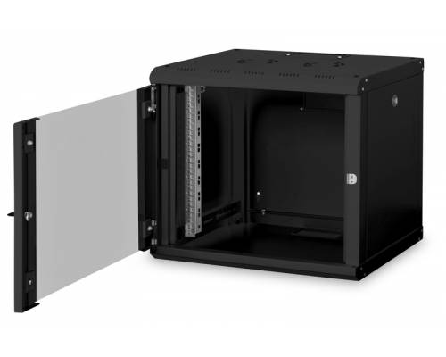 9u wall mountable cabinet with 450mm depth 19 inch with power supply and dual fan