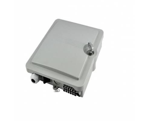 12 port wall mount indoor termination box abs with lc pc multimode adaptor and pigtail
