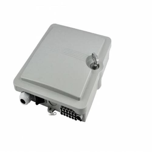 12 port wall mount indoor termination box abs with lc pc single mode adaptor and pigtail