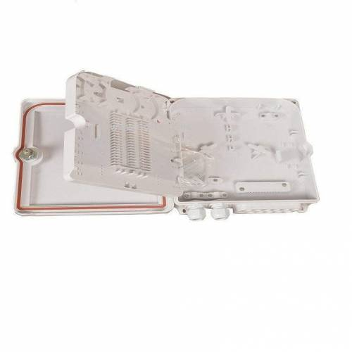 12 Port Wall Mount Fiber Termination Box Unloaded ABS Type, Hold Upto 12 Adaptor, IP65 Complied, For Indoor and Outdoor OFC Application JTTB12WFBL Termination Box
