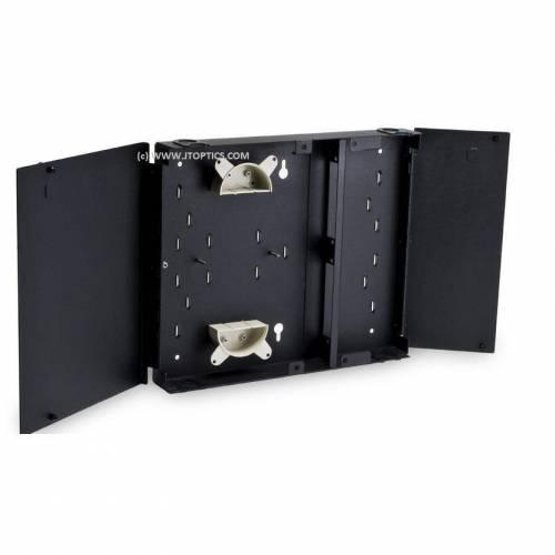 12 Port Wallmount Indoor Outdoor Optical Fiber Termination Box LIU, Hold Upto 12 Adaptor, Metal Type Powder Coated, OFC Liu Box IP65 Comply JTTB12WOBL Termination Box
