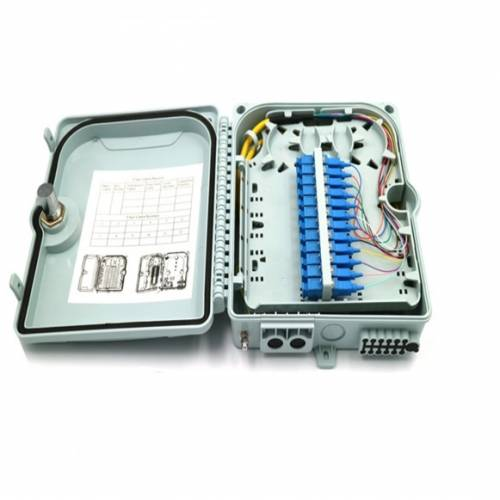 12 Port Wall Mount Termination Box Abs With Sc Pc Single Mode Adaptor And Pigtail, Hold Upto 12 Coupler, IP65 Complied Liu, For Indoor and Outdoor OFC Application JTTB12WIASCS Termination Box