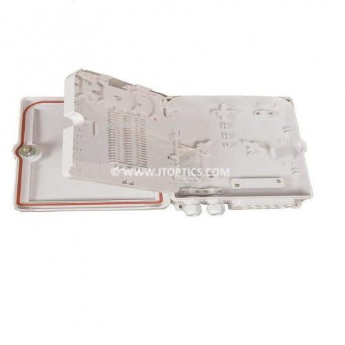 12 port wallmount abs optical fiber termination box or 12f wall-mount indoor outdoor ofc liu box IP65 complied