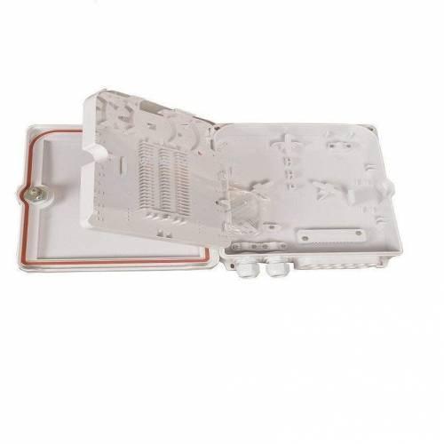 12 port wallmount abs optical fiber termination box 12f wall-mount indoor outdoor ofc liu box IP65 complied