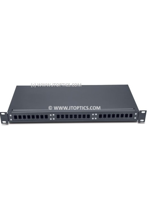 RACK MOUNT FIBER TERMINATION BOX 24 PORT FIXED UNLOADED