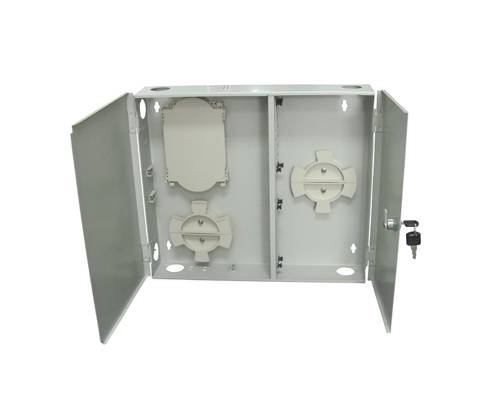 24 Port wall-mount outdoor termination box metal type lc pc multimode adaptor and pigtail