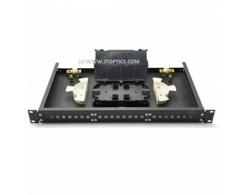 24 port liu 19'' rack mountable sliding type with face plate and splice tray for termination or 24f rack mount ofc fms odf