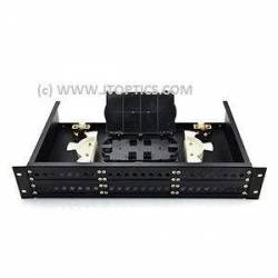 48 port liu 19'' rack mountable sliding type with face plate and splice tray for termination or 48f rack mount ofc fms odf