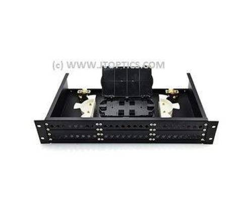 48 Port Rack Mountable Sliding Type Fully Loaded Patch Panel liu with SC/PC Adaptor Splice Tray and Pigtail MM