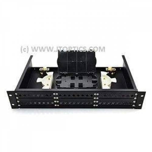 48 port liu 19 inch rack mountable sliding type with face plate and splice tray unloaded