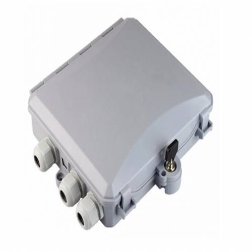 6 Port Wall Mount Ofc Termination Box Abs With Lc Pc Multimode Adaptor And Pigtail, Hold Upto 6 Coupler, IP65 Complied Liu, For Indoor and Outdoor OFC Application JTTB6WIALCM Termination Box