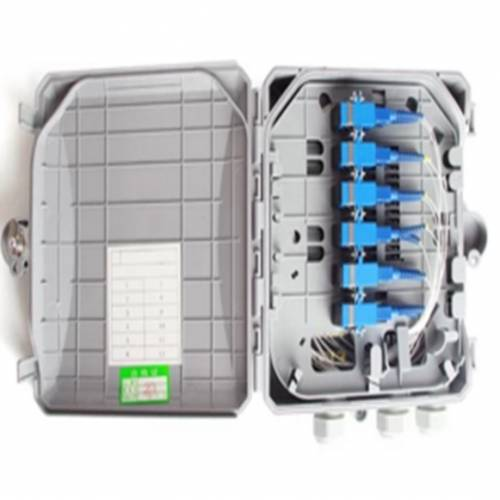 6 Port Wall Mount Ofc Termination Box Abs With Sc Pc Single Mode Adaptor And Pigtail, Hold Upto 6 Coupler, IP65 Complied Liu, For Indoor and Outdoor OFC Application JTTB6WIASCS Termination Box