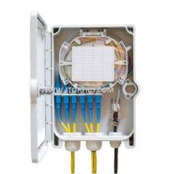 6 port wallmount fiber abs termination box unloaded for indoor wall-mount