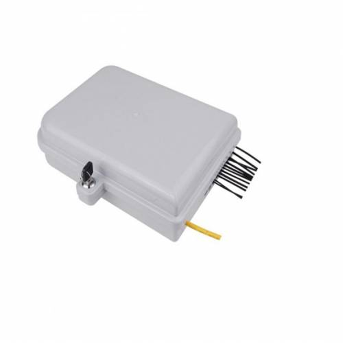 8 Port Wall Mount Ofc Termination Box Abs With Sc Pc Multimode Adaptor And Pigtail, Hold Upto 8 Coupler, IP65 Complied Liu, For Indoor and Outdoor OFC Application JTTB8WIASCM Termination Box