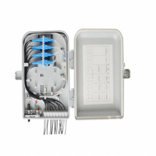 8 Port Wall Mount Ofc Termination Box Abs With Sc Pc Single Mode Adaptor And Pigtail, Hold Upto 8 Coupler, IP65 Complied Liu, For Indoor and Outdoor OFC Application JTTB8WIASCS Termination Box