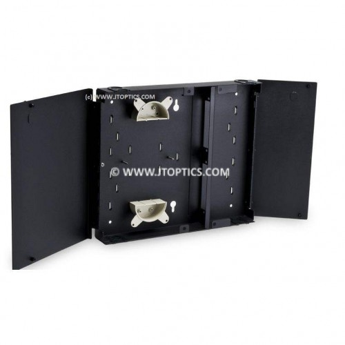 Fiber termination box wall mountable 12 port unloaded metal type for Indoor or Outdoor