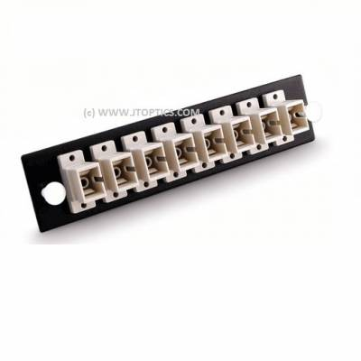 FIBER TERMINATION BOX FACE PLATE WITH 8 MULTIMODE SC UPC ADAPTOR