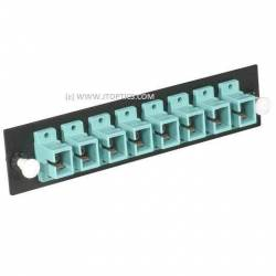 Face plate for liu 8 port SC upc single mode adaptor