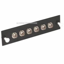 6 ports liu face plate with fc upc single mode simplex coupler or adaptor