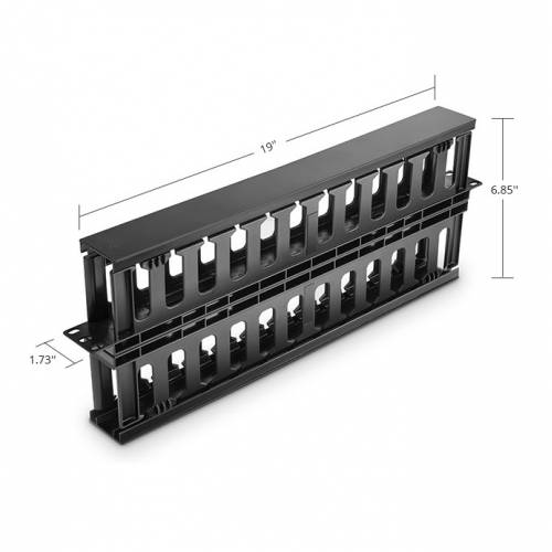 Horizontal Cable Manager With Finger Duct 1U Plastic Dual Sided JTCMRH1U High Density LIU