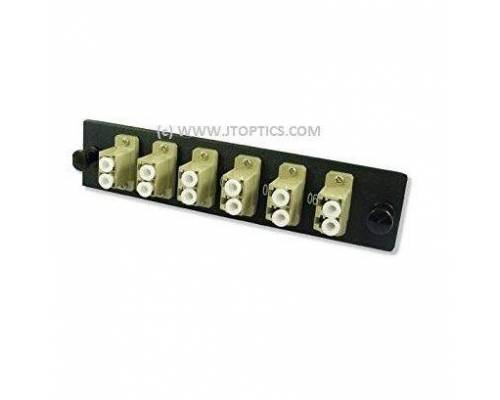 12 ports liu face plate with lc upc multimode simplex coupler adaptor