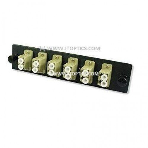 12 ports liu face plate with lc upc multimode simplex coupler or adaptor