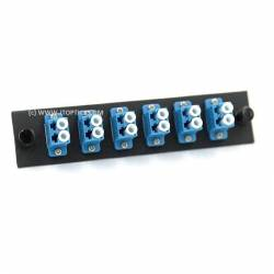 12 ports liu face plate with lc upc single mode simplex coupler or adaptor
