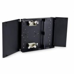 12 port wallmount outdoor optical fiber metal termination box or 12f wall-mount ofc liu box IP65 comply
