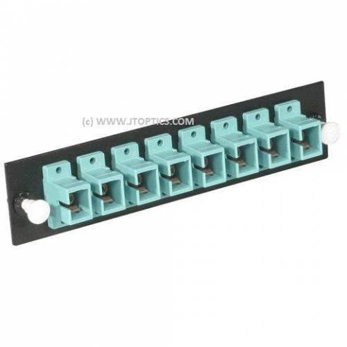 8 ports liu face plate with sc upc single mode simplex coupler adaptor