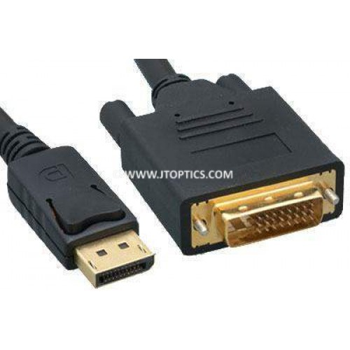 Displayport male to dvi male patch cord cable