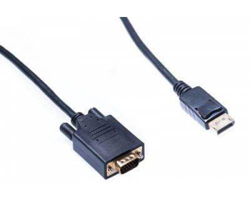 Displayport male to vga male patch cord cable