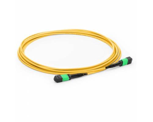12 fiber mpo female mpo female single mode os2 lszh trunk cable for 40g / 100g lr4 transceiver