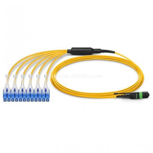 12 FIBER MTP TO LC SINGLE MODE BREAKOUT PREMIUM QUALITY CABLE
