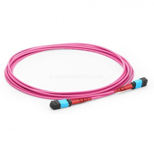24 FIBER MPO TO MPO MULTIMMODE OM4 TRUNK CABLE