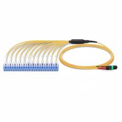 24 fiber mtp to LC single mode breakout premium quality cable