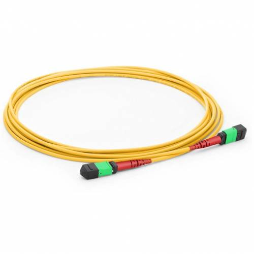 24f Mtp Female Mtp Female Sm Patch Cord, Low Loss OFNR (Riser) 24 Fiber Mtp Trunk Cable, G.657A1 Single Mode, Yellow, Polarity A, For Cxp Cfp 100g Transceiver JTMPSO224MPSFMPSFXX MTP / MPO Cables