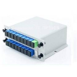 1:16 plc optical fiber plc splitter 1260nm – 1650nm lgx box type