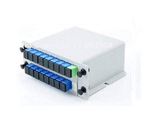 1:16 plc optical fiber splitter plc 1260nm – 1650nm lgx box type