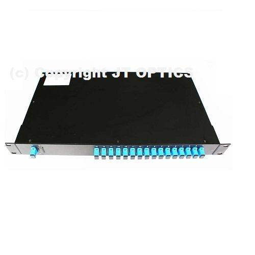 1:16 optical fiber plc splitter 1260nm – 1650nm rack mountable