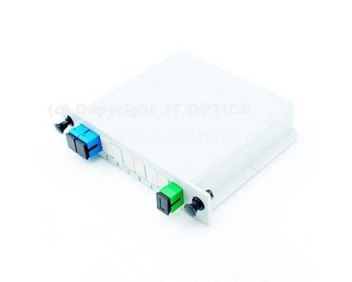 1:2 plc optical fiber splitter plc 1260nm – 1650nm lgx box type