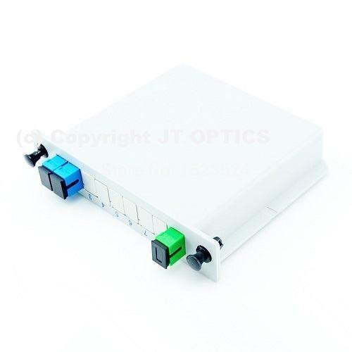 1:2 plc optical fiber plc splitter 1260nm – 1650nm lgx box type