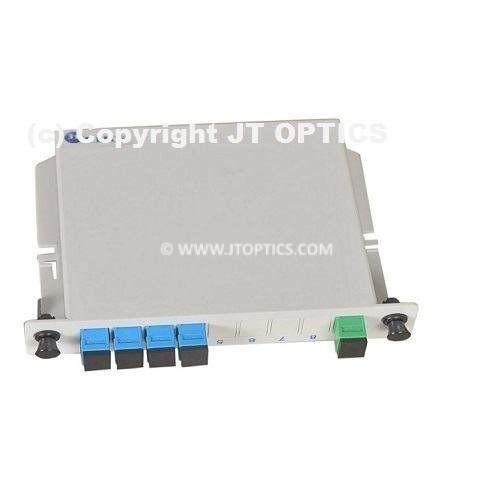 1:4 plc optical fiber splitter plc 1260nm – 1650nm lgx box type