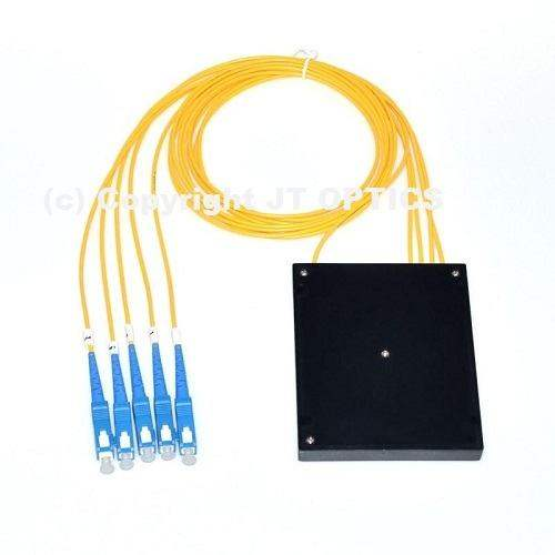 1:4 optical fiber plc splitter 1260nm – 1650nm abs type